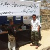 خیمه کمک مردم جاغوری به مردم آسیب دیده ارگوی ولایت بدخشان