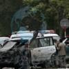 کاروان انتخاباتی عبدالله عبدالله در کابل هدف انفجار قرارگرفت